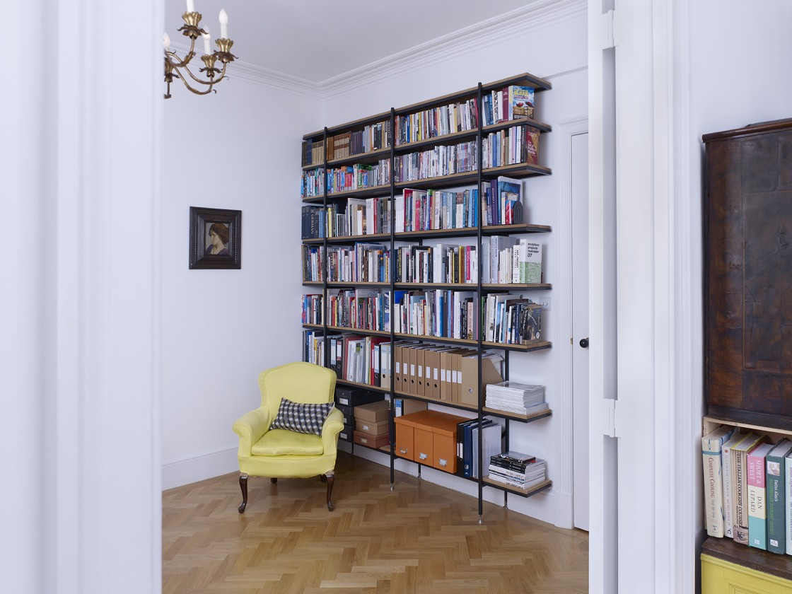 James Smith Designs offering furniture design such as this bespoke shelving, in Paddington, London