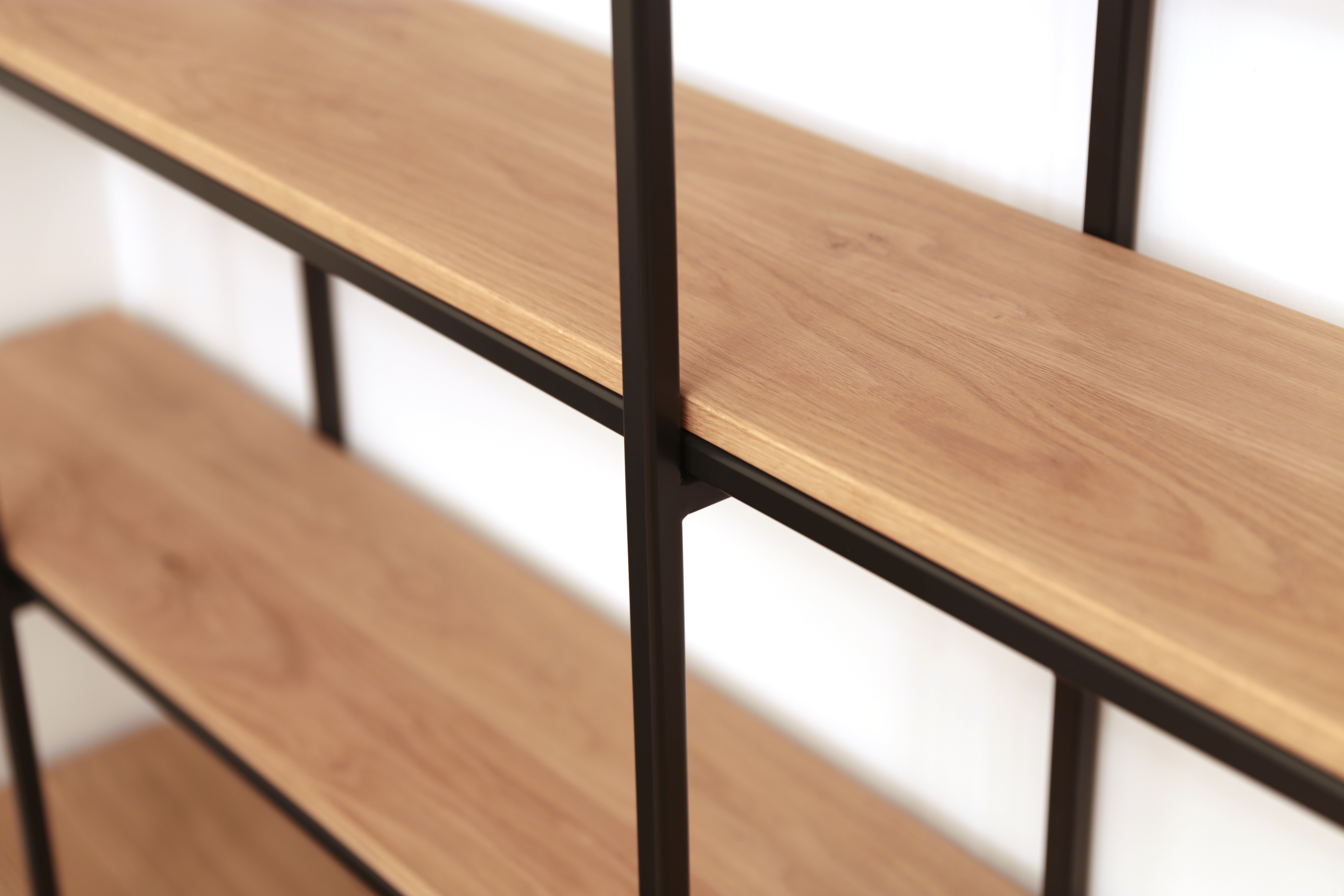 Shelving designed to hold the client's library in London